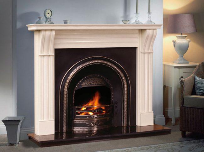 Dublin Corbal Fireplace Mantel only in Mocha Beige £480!
