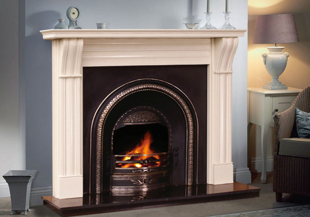 Dublin Corbal Fireplace Mantel only in Mocha Beige £480!